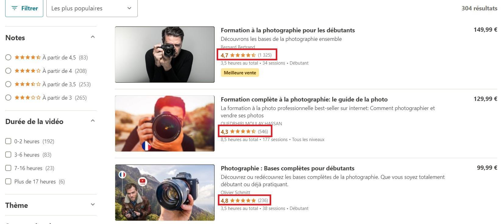 Vendre une formation en photographie