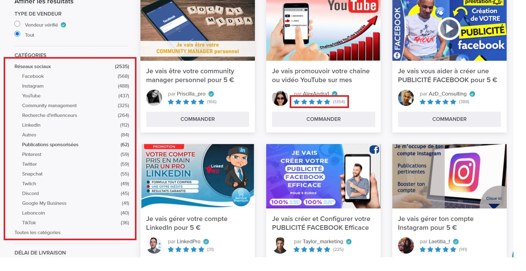 Gagner de l'argent en vendant un service sur les réseaux sociaux