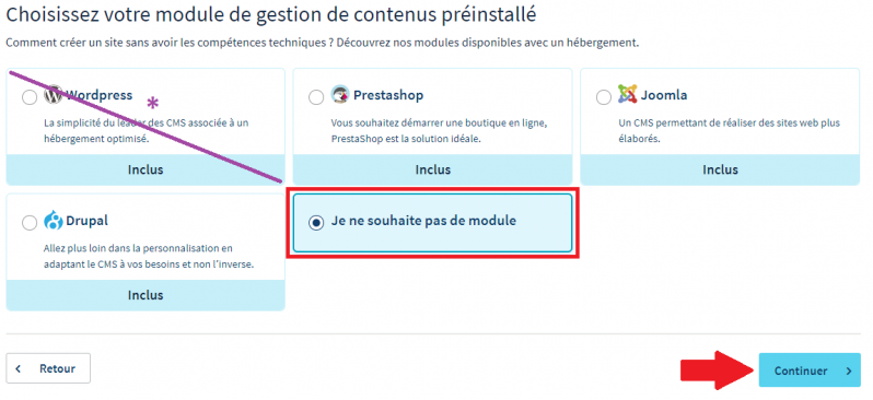Les modules a installer automatiquement ovh