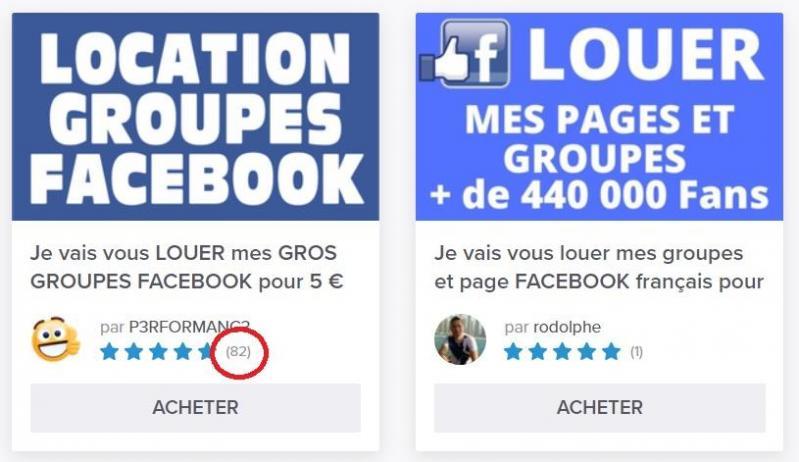 Louer son groupe ou sa page Facebook