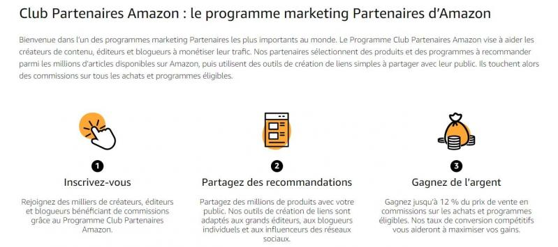 Le programme partenaire d'Amazon