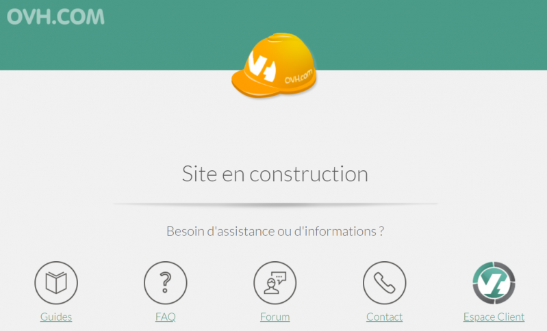 Site en construction OVH