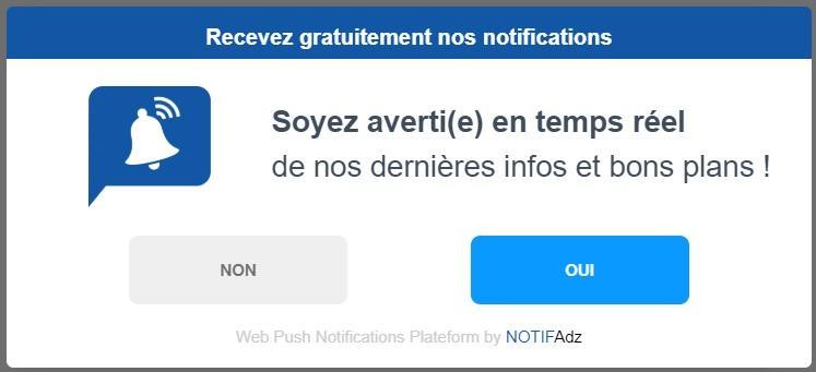 Web push notification par adrenalead